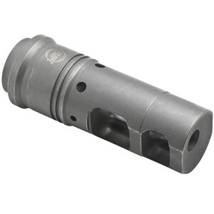 "SureFire SOCOM Muzzle Brake/Suppressor Adapter 6.8mm/.277 Caliber Threaded 5/8""x24 Heat Treated Stainless Steel Ionbond DLC Coating Matte Black SFMB-68-5/8-24"