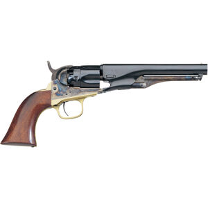 """Taylor's & Co 1862 Pocket Police Black Powder Revolver .36 Caliber 5.5"""" Blued Barrel Walnut Grip Case Hardened Frame Finish"""