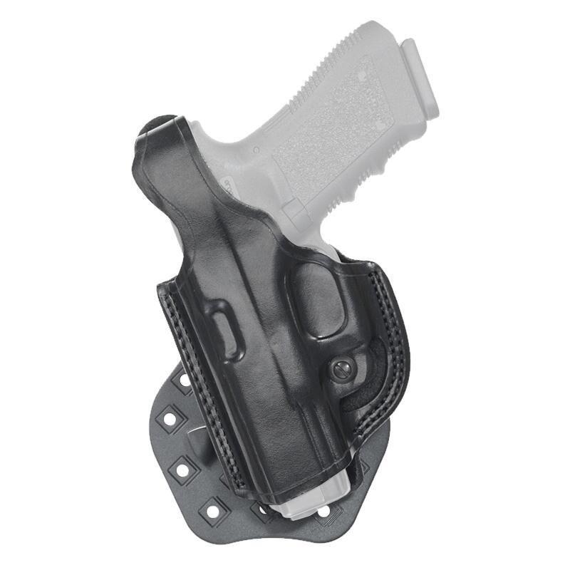 Aker Leather 268 FlatSider Paddle XR17 SIG P320C Belt Holster Left Hand Leather Plain Black