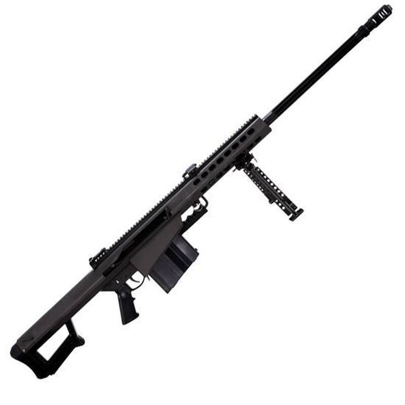 "Barrett M82A1 Semi Auto Rifle .50 BMG 29"" Fluted Barrel 10 Rounds Flip Up Iron Sights Lightweight Quick Detach Bipod Arrowhead Muzzle Brake Manganese Phosphate Finish"