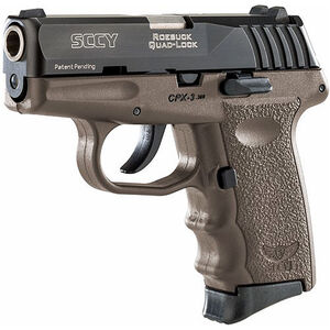 "SCCY CPX-3 .380 ACP Semi Auto Pistol 2.96"" Barrel 10 Rounds No Safety FDE Polymer Frame with Black Slide Finish"