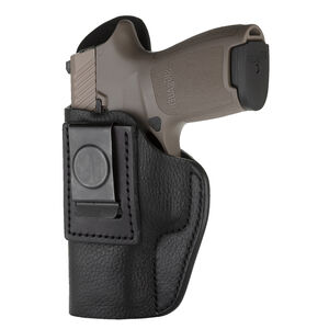 1791 Gunleather Smooth SCH-2 Multi-Fit IWB Concealment Holster for J Frame Revolvers Left Hand Draw Leather Black