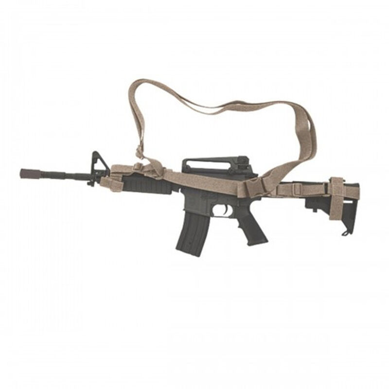 """Voodoo Tactical 3 Point Adjustable Coyote Rifle Sling 1 ½"""" Rugged Webbing"""