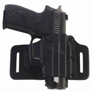 Galco Tac Slide S&W M&P Shield 9/40 Belt Holster Leather/Kydex Right Hand Black TS652B