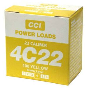 D.T. Systems CCI .22 Caliber Blank Power Loads Level 4 Yellow 70 to 100 Yards Box of 100 88817