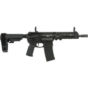 "Adams Arms P2 Pistol .300 Blackout AR-15 Semi Auto Pistol 8"" Barrel Piston Operated M-LOK Compatible Handguard SB Tactical Pistol Brace Black Finish"