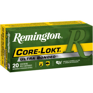 Remington Core-Lokt .223 Rem Ammunition 20 Rounds 62 Grain Core-Lokt Ultra Bonded PSP CLUB 3100fps