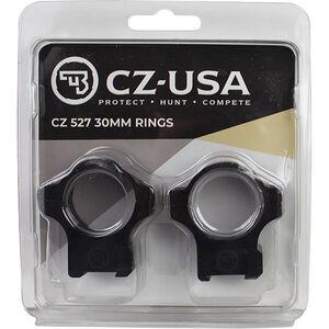 CZ USA 30mm Medium Height Scope Rings For CZ 527 Rifles 16mm Dovetail Aluminum Matte Black