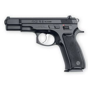 "CZ 75 B Semi Automatic Handgun .40 S&W 4.6"" Barrel 10 Rounds Plastic Grips Black Polycoat Finish"