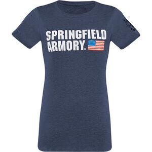 Springfield Armory Flag Logo Women's T-Shirt XL Cotton Midnight Navy