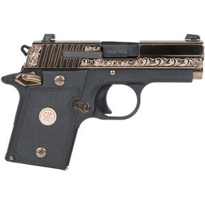 "SIG Sauer P938 Rose Gold Semi Auto Pistol 9mm Luger 3"" Barrel 6 Rounds SIGLITE Night Sites G10 Grips Polished and Engraved Slide Black Frame Two Tone Finish"