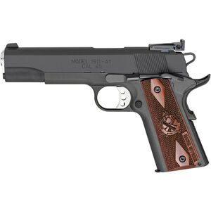 "Springfield 1911 Range Officer Semi Auto Pistol 45 ACP 5"" Barrel 7 Rounds Wood Grips Parkerized"