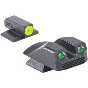 Meprolight Hyper-Bright Tritium Day and Night Sight Front Phosphorescent Yellow Ring/Rear Green for Kimber Micro/Micro9