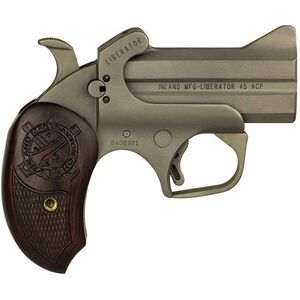 """Inland Manufacturing Liberator Derringer .45 ACP 3.5"""" Barrels Fixed Sights Walnut Grip Stainless"""