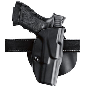 """Safariland 6378 ALS Paddle Holster Right Hand GLOCK 19/23/36 with Tactical Light 4"""" Barrel STX Plain Finish Black 6378-2832-411"""