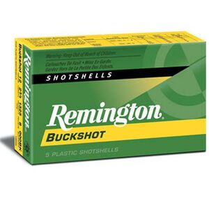 "Remington Express Buckshot 12 Gauge Ammunition 5 Rounds 3.5"" 00 Lead Buck 18 Pellets 20280"