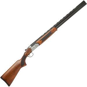 "Dickinson Greenwing 12 Gauge O/U Break Action Shotgun 26"" Double Barrels 3"" Chambers 2 Rounds Bead Sight Walnut Stock Laser Engraved Silver/Blued Finish"