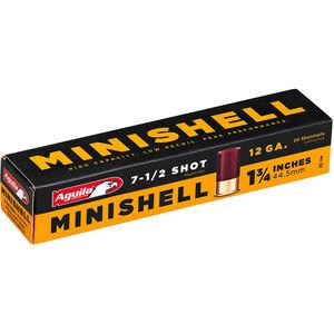 "Aguila MiniShells 12 Gauge Ammunition 20 Rounds 1-3/4"" Shell #7.5 Lead Shot 5/8oz 1175 fps"