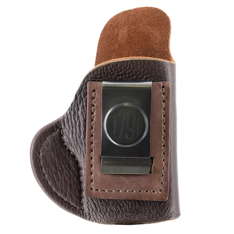 1791 Gunleather Fair Chase Size 0 IWB Holster for Small Pocket Sized Semi Auto Pistols Right Hand Draw American Whitetail Deer Skin Brown