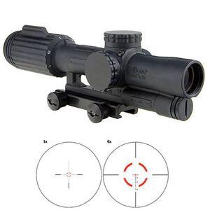 Trijicon VCOG 1-6x24 Riflescope Illuminated Red Segmented Circle/Crosshair .223 Remington 55 Grain Ballistic Reticle First Focal Plane Thumb Screw Mount Black
