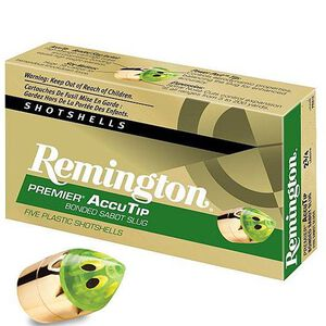"Remington 20 Gauge Ammunition 5 Rounds 2.75"" Bonded Sabot Slug 260 Grains"