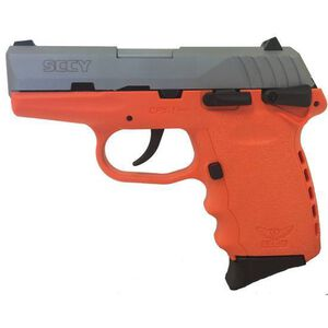 "SCCY CPX-2 Semi Auto Pistol 9mm Luger 3.1"" Barrel 10 Rounds Polymer Frame Orange/Natural Stainless CPX2TTOR"