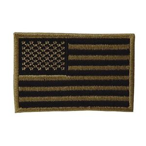 Voodoo Embroidered USA Military Flag Patches Coyote