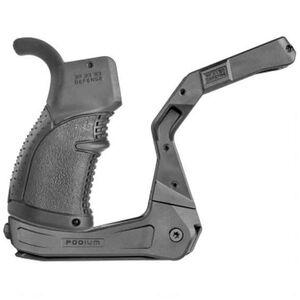 FAB Defense AR Podium Bi-Pod Pistol Grip Shooting Platform Polymer Black