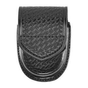 Aker 500D Compact Round Double Handcuff Case Basket Weave Black
