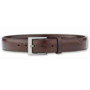 "Galco SB3 Dress Belt 1.5"" Wide Nickel Plated Brass Buckle Leather Size 40 Havana Brown SB3-40H"