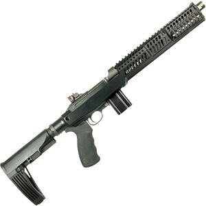 """Inland Manufacturing M30-P .30 Carbine Semi Auto Pistol 12"""" Threaded Barrel 10 Rounds Sage ERB Chassis and Forend Pistol Brace Black Finish"""
