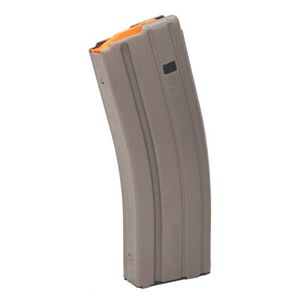 C-Products Defense  AR-15 .223/5.56 30 Round Magazine Grey with Orange Follower 3023002178