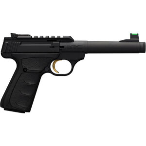 "Browning Buck Mark Plus Camper UFX SR .22 LR Semi Auto Rimfire Pistol 6"" Threaded Bull Barrel 10 Rounds F/O Front Sight UDX Grips Black"