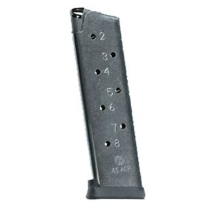Rock Island Armory 1911 Magazine, .45 ACP, 8 Rounds, Steel, Black/Blued