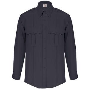 Elbeco Textrop2 Men's Long Sleeve Shirt with Zipper Polyester 17.5x35 Navy
