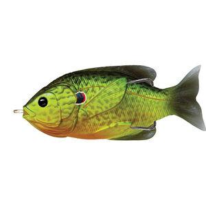 "Sunfish Hollow Body 3 1/2"",  Numner 4/0 Hook Size, Topwater Depth, Florescent  Pumpkinseed"