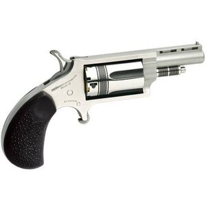 """North American Arms Wasp Revolver .22 WMR/.22 LR 1.625"""" Barrel 5 Rounds Rubber Grips Stainless Frame and Finish NAA-22MC-TW"""
