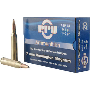 Prvi Partizan PPU Standard 7mm Rem Mag Ammunition 20 Rounds 140 Grain PSP BT 3110fps