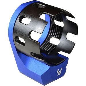 Strike Industries AR-15 Enhanced Castle Nut and Extended Endplate Blue SI-AR-ECN&EEP-BLU