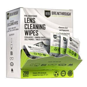 "Breakthrough Clean BT-LW-200 Lens Wipes 6"" X 4"" X 7"" 200 Per Pkg"