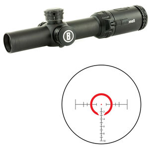 Bushnell AR Optics 1-4x24mm Riflescope BTR Illuminated Reticle 30mm Tube 0.1 Mil Adjustments Fixed Parallax Throw Down PCL Lever First Focal Plane Matte Black