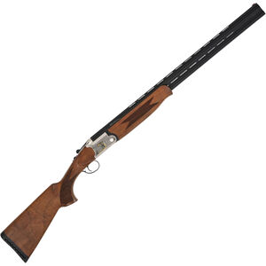 "TriStar Trinity 20 Ga Over/Under Shotgun 28"" Barrels 3"" Chamber 5 Choke Tubes Engraved Receiver Wood Stock Silver/Blued Finish"