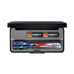 Maglite Mini MagLite Flashlight 14 Lumen AA Battery Twist Cap Switch Aluminum Flag-Lite Presentation Box M2AAEL