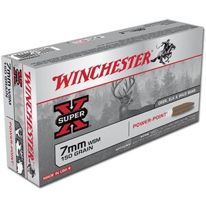 Winchester Super X 7mm WSM Ammunition 20 Rounds JSP 150 Grains X7MMWSM