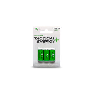 Viridian Battery Tactical Energy Ultra Lithium Batteries CR123A Three pack