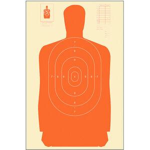 "Action Target B-27S Standard Target 24"" x 45"" Paper Orange 100 Pack"