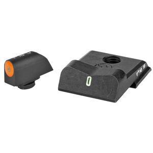XS Sights DXT2 Big Dot Night Sights S&W M&P .380 Shield EZ Green Tritium Front With Orange Ring/Tritium Stripe Rear Matte Black