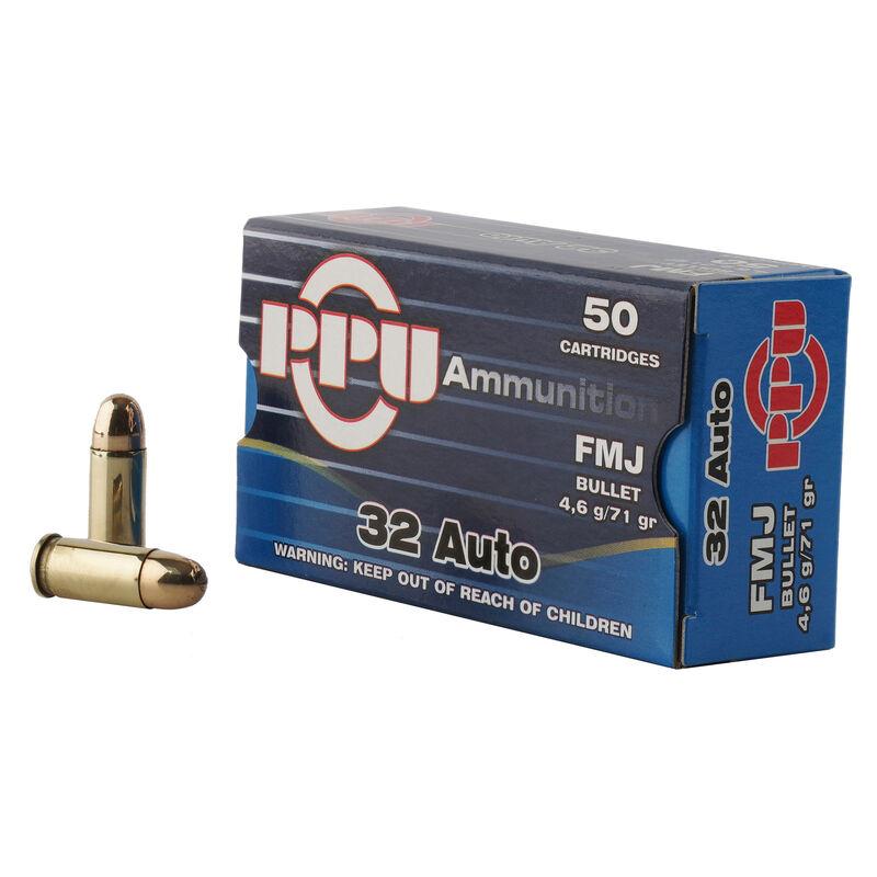 Prvi Partizan PPU .32 ACP Ammunition 50 Rounds 71 Grain Full Metal Jacket 902fps