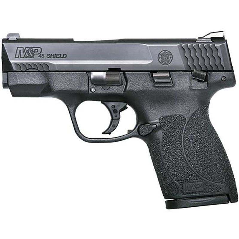 "S&W M&P45 Shield .45 ACP Semi Auto Pistol 7 Rounds 3.3"" Barrel with Safety Polymer Black 180022"