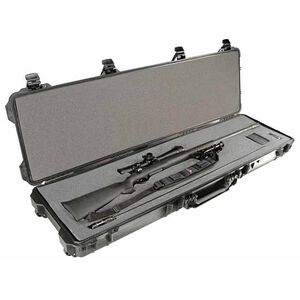 "Pelican 1750 Protector Wheeled Rifle Case 53"" Foam Interior Polymer Black 1750-000-110"